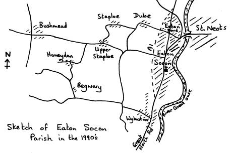 Sketch Map of The Parish of Eaton Socon